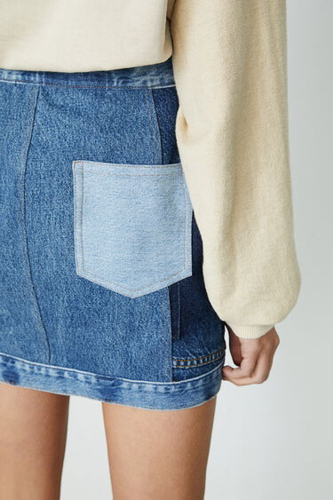 Mini falda denim upcycling | Desigual