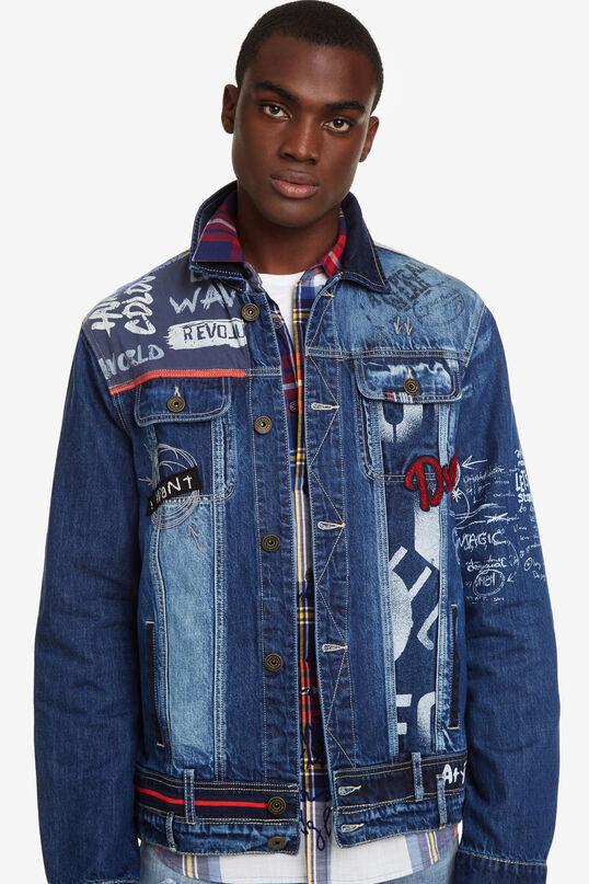 official photos 413dd e3fa4 Giacca di jeans toppe