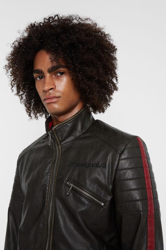 High-neck biker jacket | Desigual