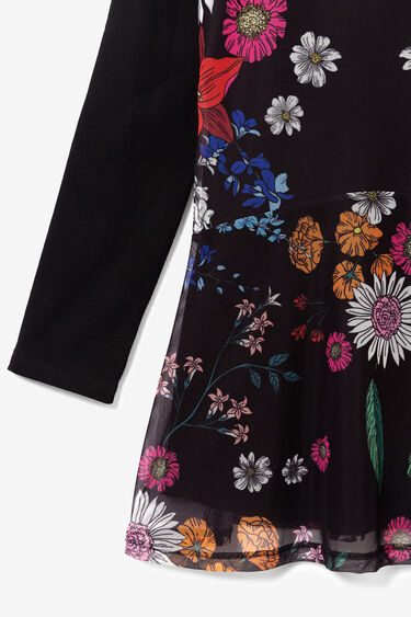 Multilayer floral dress | Desigual