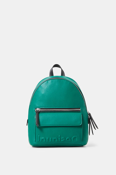 Small leather effect backpack | Desigual