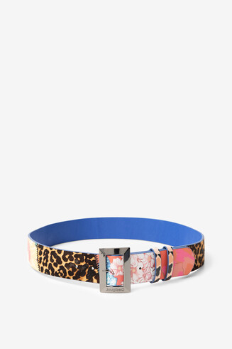 Floral and animal patch belt