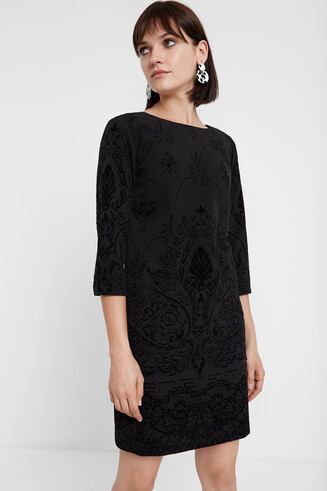 3/4 sleeve slim dress