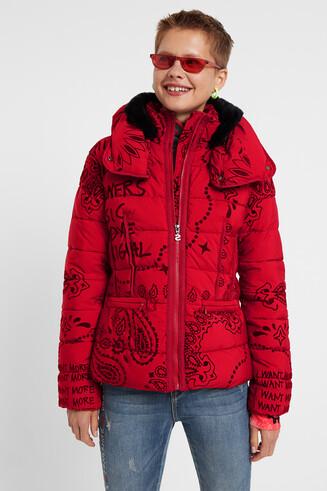 Padded turtleneck jacket