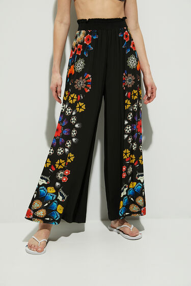 Wide leg trousers mandalas | Desigual