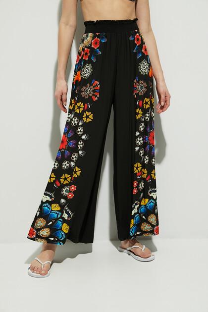 Wide leg trousers mandalas
