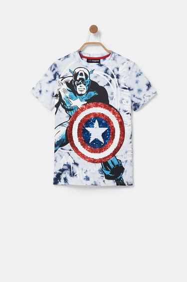 T-shirt Captain America sequin réversible | Desigual