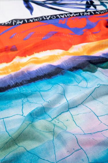 Sjaal met Hawaïaanse Laki Mahalo-print | Desigual