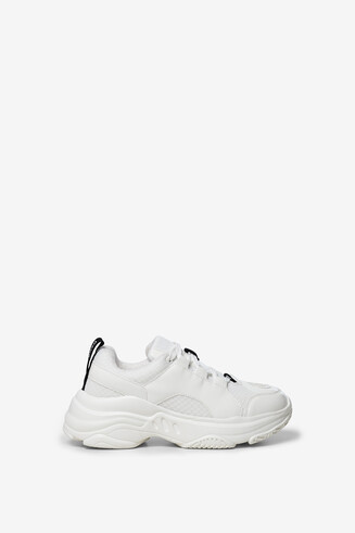 Baskets chunky blanches