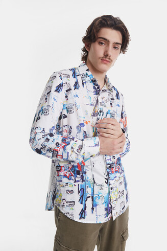 Arty collage shirt