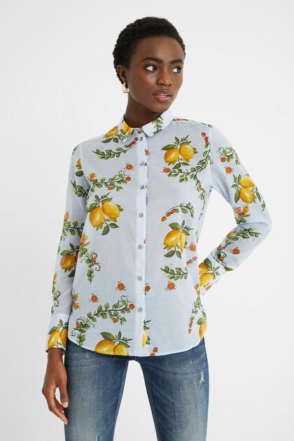 Cotton shirt lemons