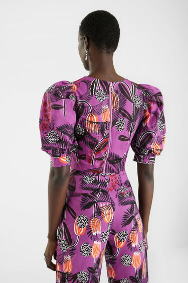 Short blouse back zipper | Desigual