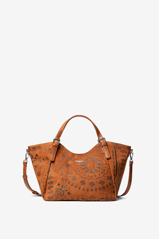 Leather-effect boho bag