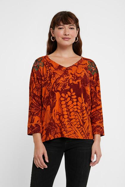 Floral jacquard T-shirt