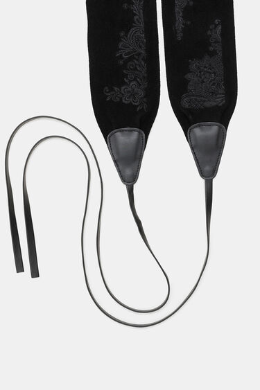 Embroidered sash belt | Desigual