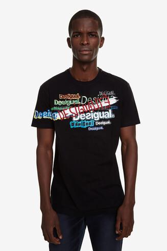 T-shirt com lettering