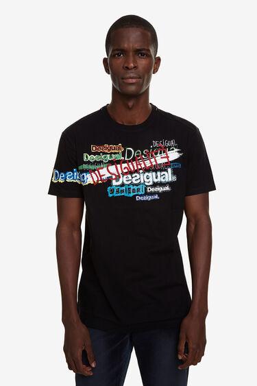 Short-sleeve T-shirt lettering | Desigual