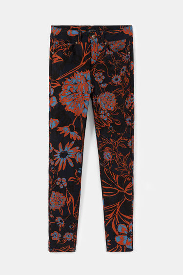 Cropped trousers floral | Desigual