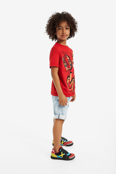 Koszulka z krótkimi rękawkami i nadrukiem na przodzie | Desigual