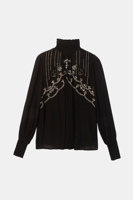 Flared blouse high neck | Desigual