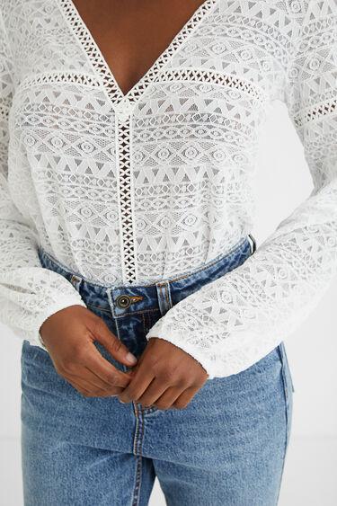 Spitzen-Body Slim Fit | Desigual