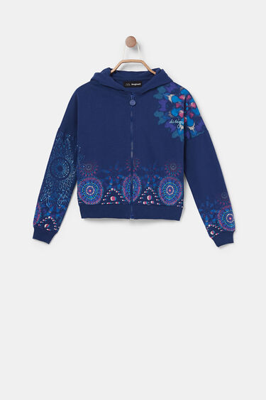 Cotton hooded sweatshirt | Desigual