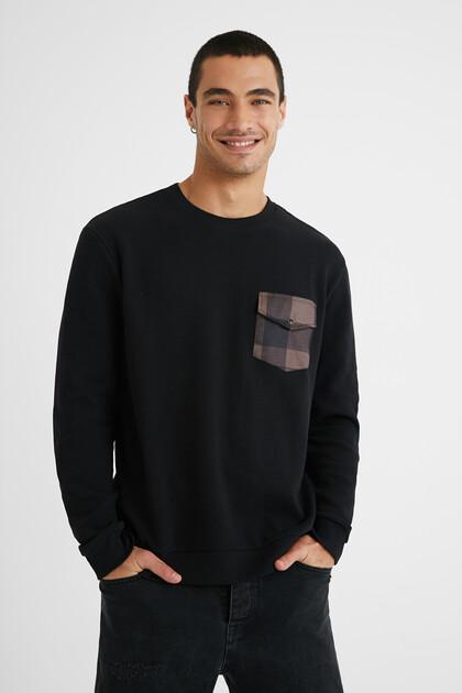 T-shirt met lange mouwen en zakje