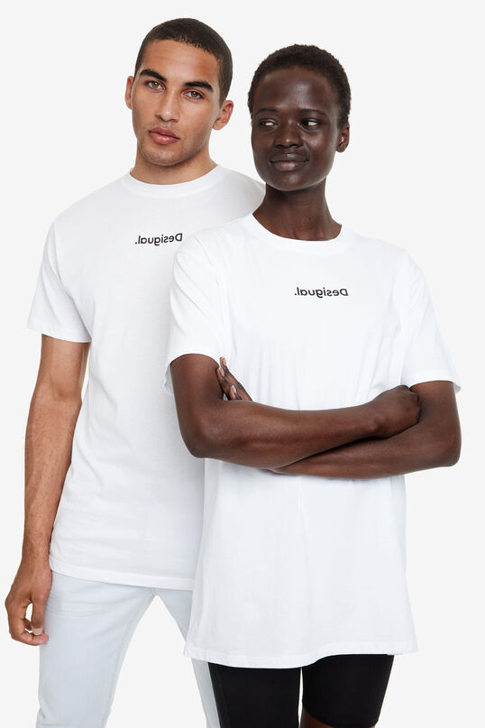 New logo T-shirt in 100% cotton | Desigual
