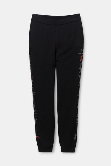 Pantalon jogging paillettes | Desigual