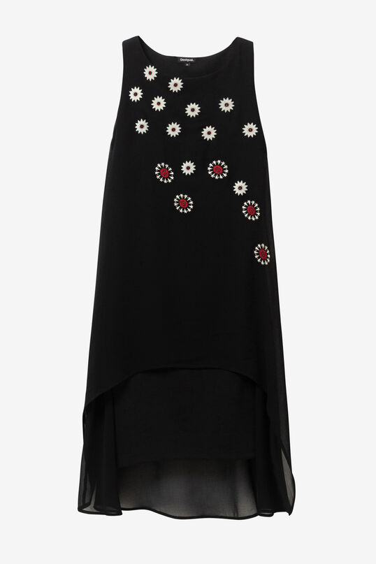 Double layer dress with detailing on the outer layer   Desigual