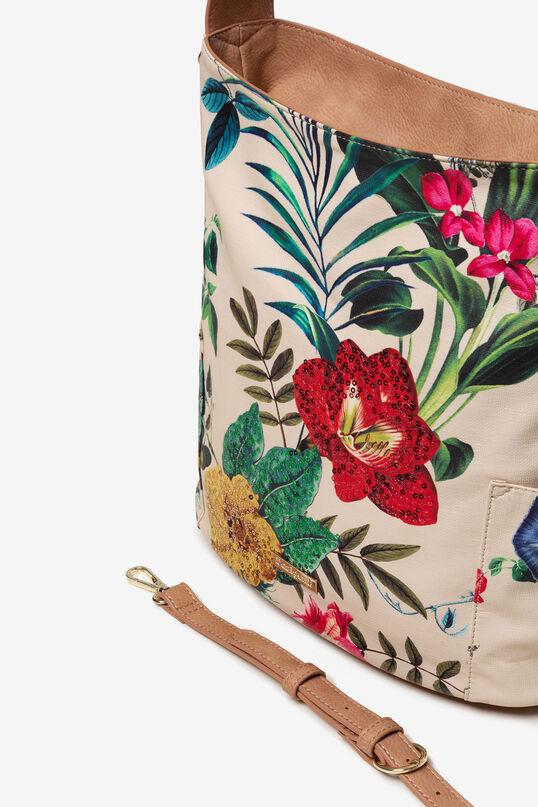 Weiße Tasche mit Blumen Yakarta Mini | Desigual