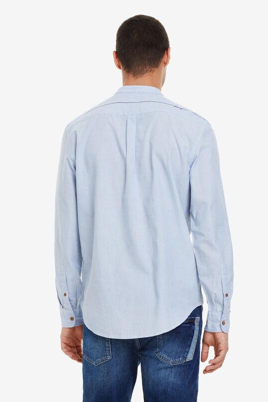 Camisa blava amb coll mao Dani | Desigual