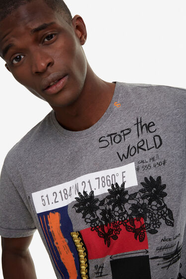 100% cotton varied print T-shirt | Desigual