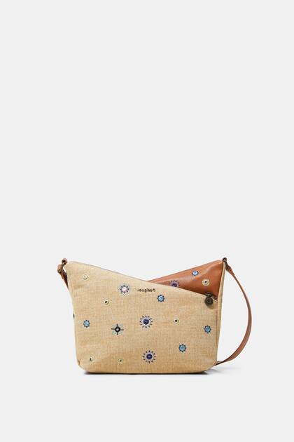 Sling bag crossed silhouette