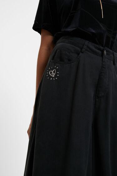 Super-wide leg jeans | Desigual
