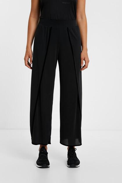 Spodnie o krótszym kroju z rozcięciami