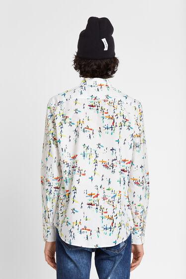 T-shirt imprimé surf | Desigual