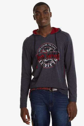 Print Hooded T-shirt Tolco