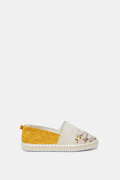 Espadrille-instappers met patch
