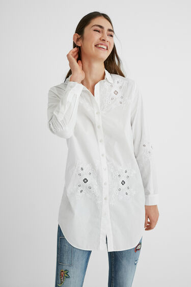 Perforated embroidery shirt | Desigual