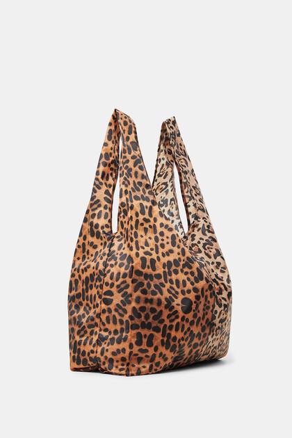 Folding leopard bag