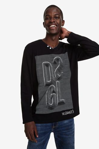 Gewellt bedrucktes Shirt