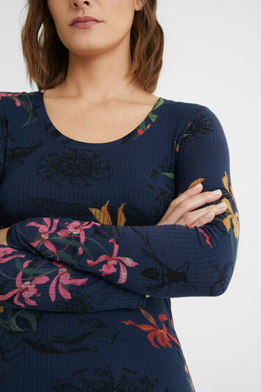 Shirt Slim Fit Blumen | Desigual