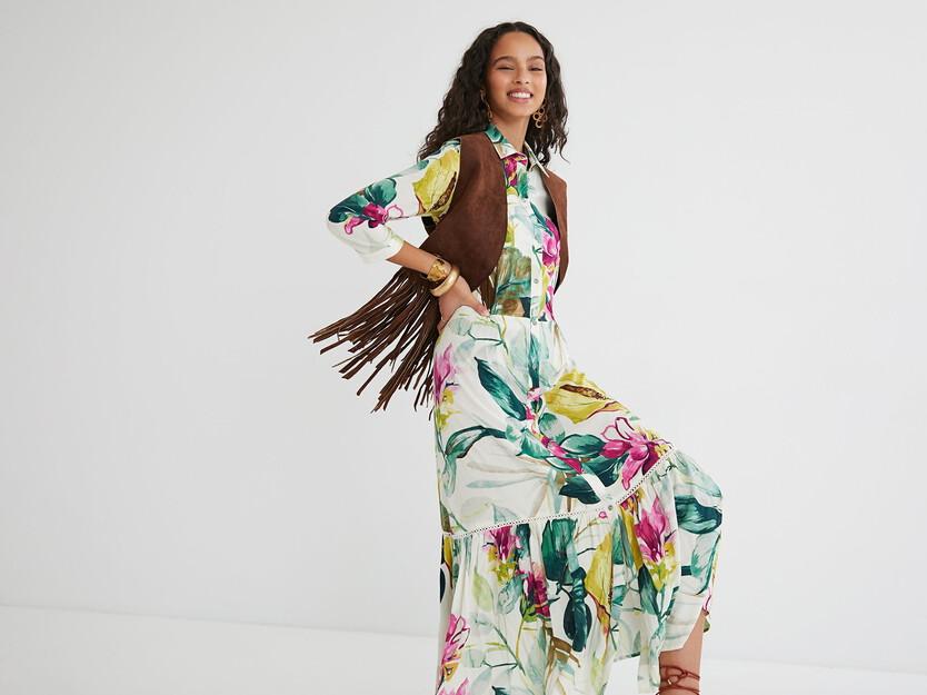 Robe chemise mi-longue
