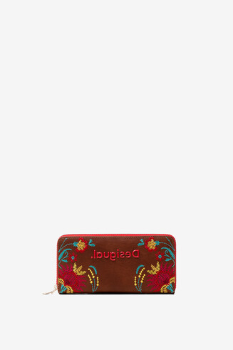 Monedero estampado floral