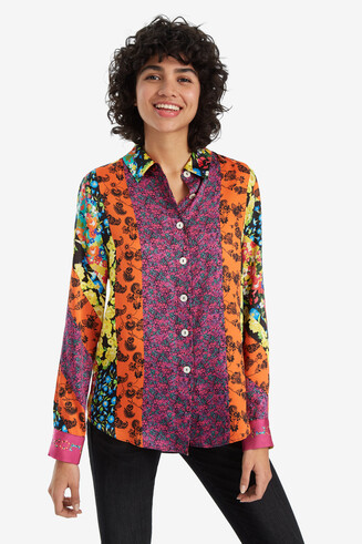 Floral Bands Cutaway Shirt Remmal