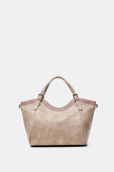 Embroidered bag curves | Desigual