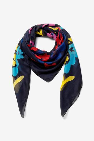 Square print scarf