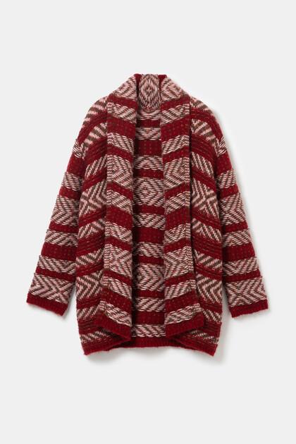 エスニックオープンセーター