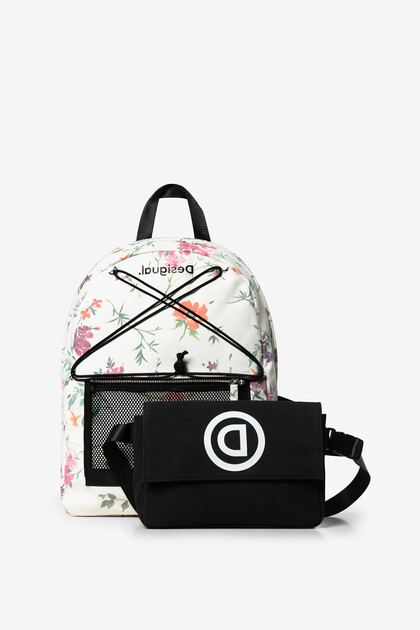 Backpack and bum bag floral print